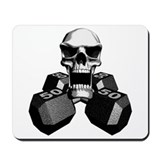Workout Skull Mousepad