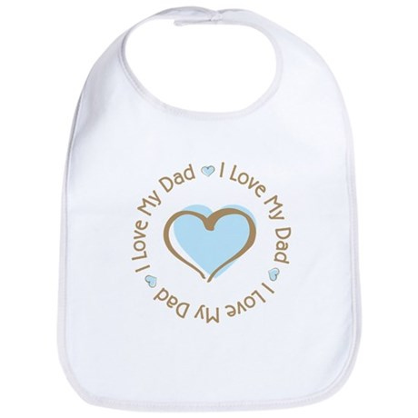 I Love my Dad Blue Heart Bib
