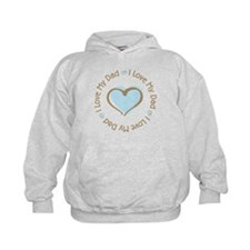 I Love my Dad Blue Heart Hoodie