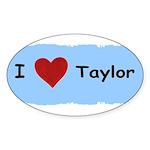 I LOVE TAYLOR Oval Sticker (50 pk)