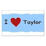 I LOVE TAYLOR Rectangle Sticker 50 pk)