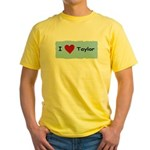 I LOVE TAYLOR Yellow T-Shirt