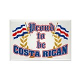 Proud to be Costa Rican Rectangle Magnet