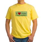 HAPPY 4OTH ANNIVERSARY TAYLOR Yellow T-Shirt