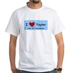 HAPPY 4OTH ANNIVERSARY TAYLOR White T-Shirt
