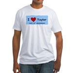 HAPPY 4OTH ANNIVERSARY TAYLOR Fitted T-Shirt