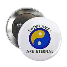 """...Twinflames... 2.25"""" Button"""