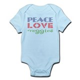 Peace Love Veggies Onesie