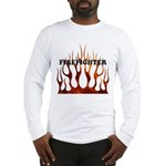 Firefighter Tribal Flames Long Sleeve T-Shirt