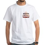 Firefighter Tribal Flames White T-Shirt