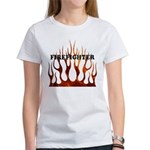 Firefighter Tribal Flames Women's T-Shirt