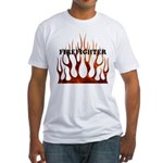 Firefighter Tribal Flames Fitted T-Shirt