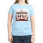 Firefighter Tribal Flames Women's Light T-Shirt