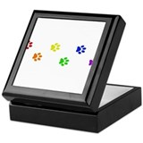 Rainbow paw prints Keepsake Box