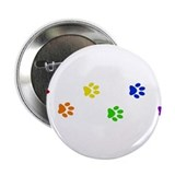 "Rainbow paw prints 2.25"" Button (10 pack)"
