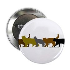 "Earthtone cats 2.25"" Button (10 pack)"