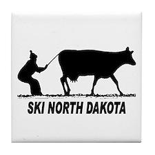 Ski North Dakota Tile Coaster