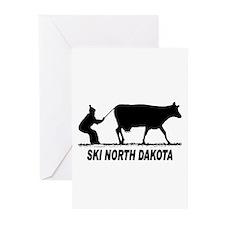 Ski North Dakota Greeting Cards (Pk of 10)