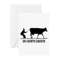 Ski North Dakota Greeting Card