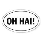 OH HAI! lolspeak Oval Sticker
