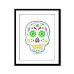 PSYCHEDELIC SKULL Framed Panel Print