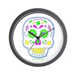 PSYCHEDELIC SKULL Wall Clock