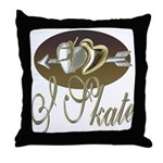 I Skate Throw Pillow
