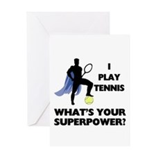 Tennis Superpower Greeting Card