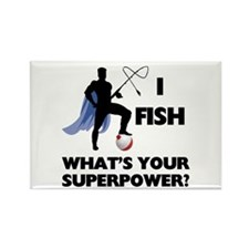 Fishing Superpower Rectangle Magnet