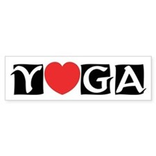 Love Yoga Bumper Bumper Sticker