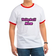"""Volleyball Mom (Pink)"" T"
