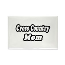 """Cross Country Mom"" Rectangle Magnet (100 pack)"