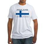 Finland Finish Flag Fitted T-Shirt