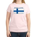 Finland Finish Flag Women's Pink T-Shirt