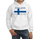 Finland Finish Flag Hooded Sweatshirt