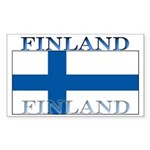 Finland Finish Flag Rectangle Sticker