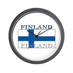 Finland Finish Flag Wall Clock