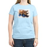 Mountain Lion Cub and logo Women's Pink T-Shirt