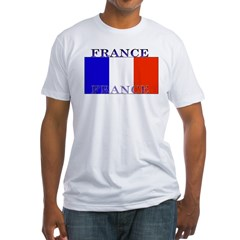 France French Flag Fitted T-Shirt