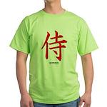 Japanese Samurai Kanji Green T-Shirt