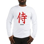 Japanese Samurai Kanji Long Sleeve T-Shirt