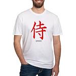 Japanese Samurai Kanji (Front) Fitted T-Shirt
