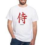 Japanese Samurai Kanji White T-Shirt