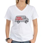 Free Candy Women's V-Neck T-Shirt