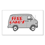 Free Candy Rectangle Sticker 50 pk)