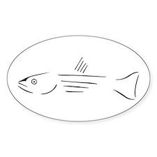 Striped Bass oval sticker