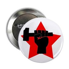 "Funny Socialist fist 2.25"" Button"