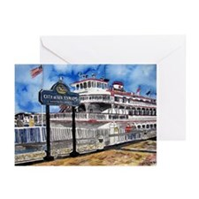 savannah queen river boat Geo Greeting Cards (Pk o