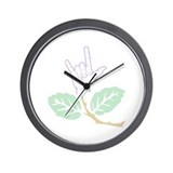 ASL Purple Flower Wall Clock