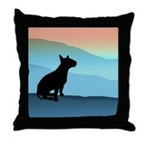 Bull Terrier Blue Mts. Throw Pillow